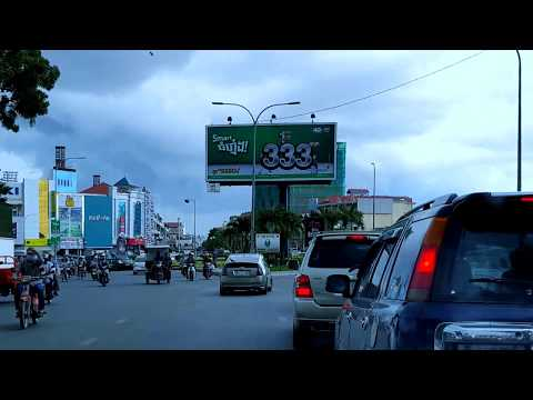 Travel on Preah Monivong Blvd to the North of the Capital and Toward the eastern Capital, Cambodia