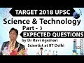 Target 2018 UPSC - Science & Technology Current Affairs - Expected Questions SET 3