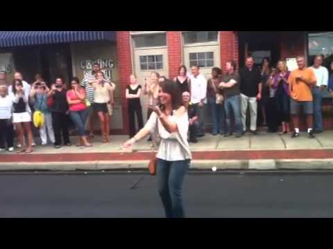 A marriage proposal flash mob in Sewickley