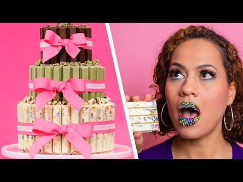 Cake Made Of KIT KAT BARS   3 Tiers Of Chocolate   How To Cake It with Yolanda Gampp