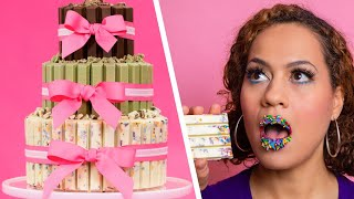Cake Made Of KIT KAT BARS | 3 Tiers Of Chocolate | How To Cake It with Yolanda Gampp