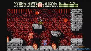 1990 Ninja Gaiden II: The Dark Sword of Chaos (NES) Game Playthrough Retro Game 60fps