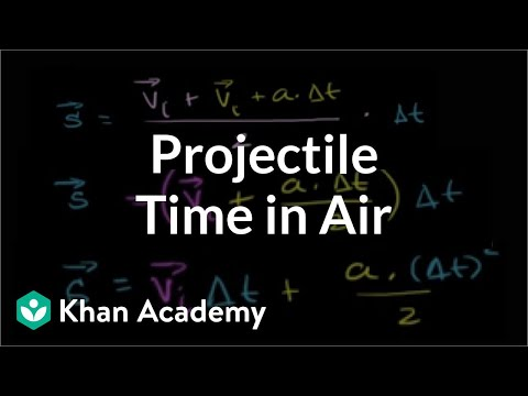 Different way to determine time in air | Two-dimensional motion | Physics | Khan Academy