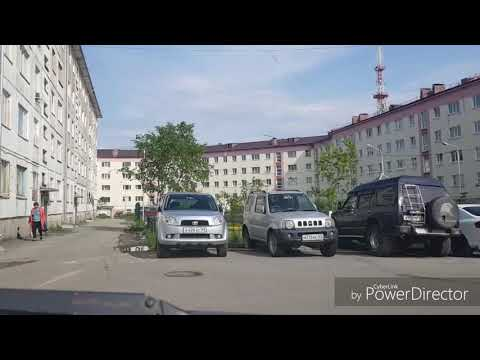 Современный Магадан. Прогулка во дворе ул.Гагарина 2,4,6, двор Колымского Арбата. Конец июня 2019