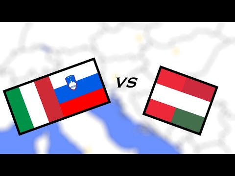 Italy & Slovenia vs Austria & Hungary war simulation