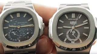Patek Philippe Nautilus vs Nautilus 5712/1A-001 Moonphase vs Annual Calendar 5726/1A-001