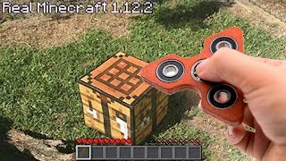 REALISTIC MINECRAFT IN REAL LIFE NEW FIDGET SPINNER ~ IRL ANIMATION The Best Episode