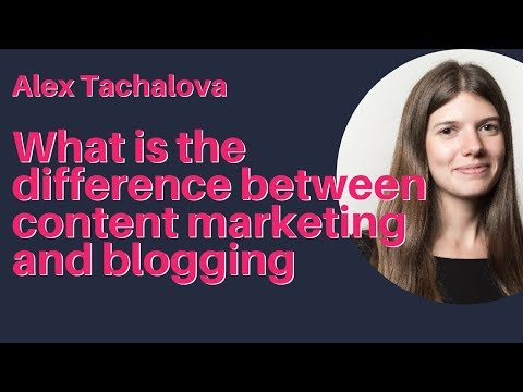 Alex Tachalova — How content marketing is different from running a blog
