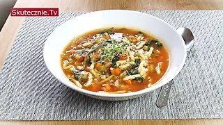 Włoska zupa pomidorowa z marchewką, porem i makaronem :: Skutecznie.Tv