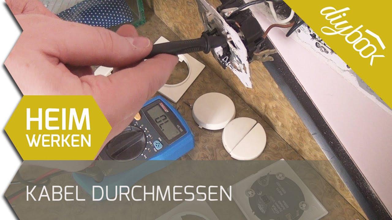 Kabel durchmessen: Durchgangsprüfung mit dem Multimeter - YouTube