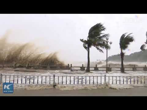 Two people die in Zhuhai, China due to Typhoon Hato
