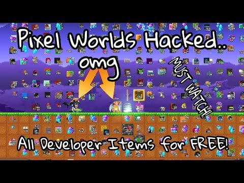 Pixel Worlds | All Developer Items Hacked (WickEr10's Hat, Commander_K's Helmet..)