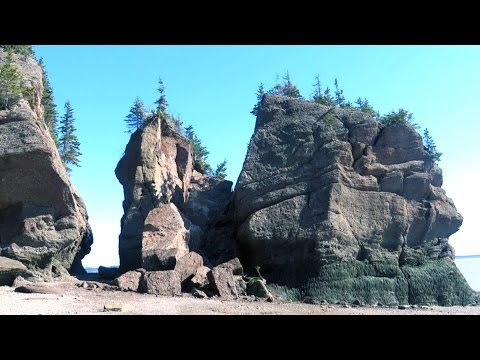 Famous Hopewell Rocks topple down in sudden landscape change