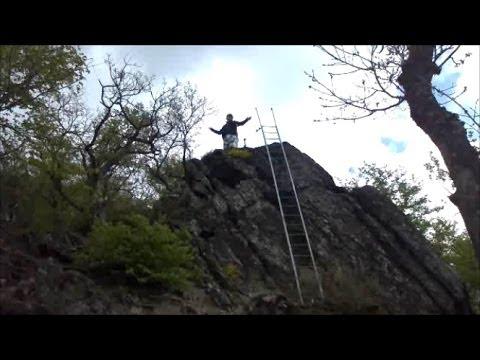 Klettersteig Riol : Der burgberg klettersteig youtube