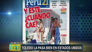 Alejandro Toledo: expresidente es captado en playa de Miami Beach