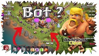 CLASH OF CLANS - ENCONTREI UM BOT FARMANDO A VILA DO VINHO