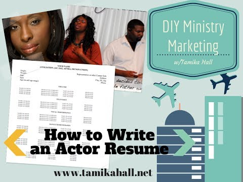How To Write An Actor Resume