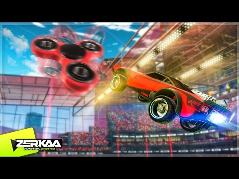 FIDGET SPINNERS IN ROCKET LEAGUE! (Rocket League)