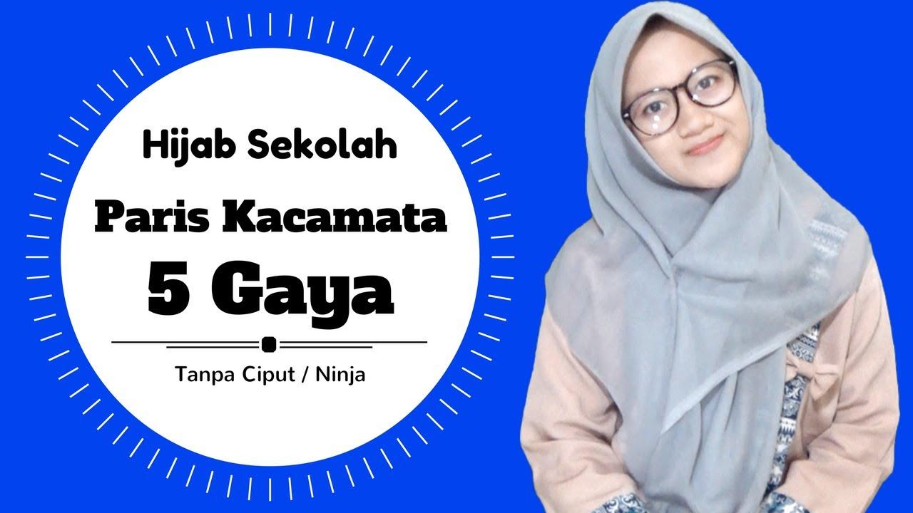 30 Tutorial Hijab Segi Empat Berkacamata Yang Kekinian Hijabyuk Com