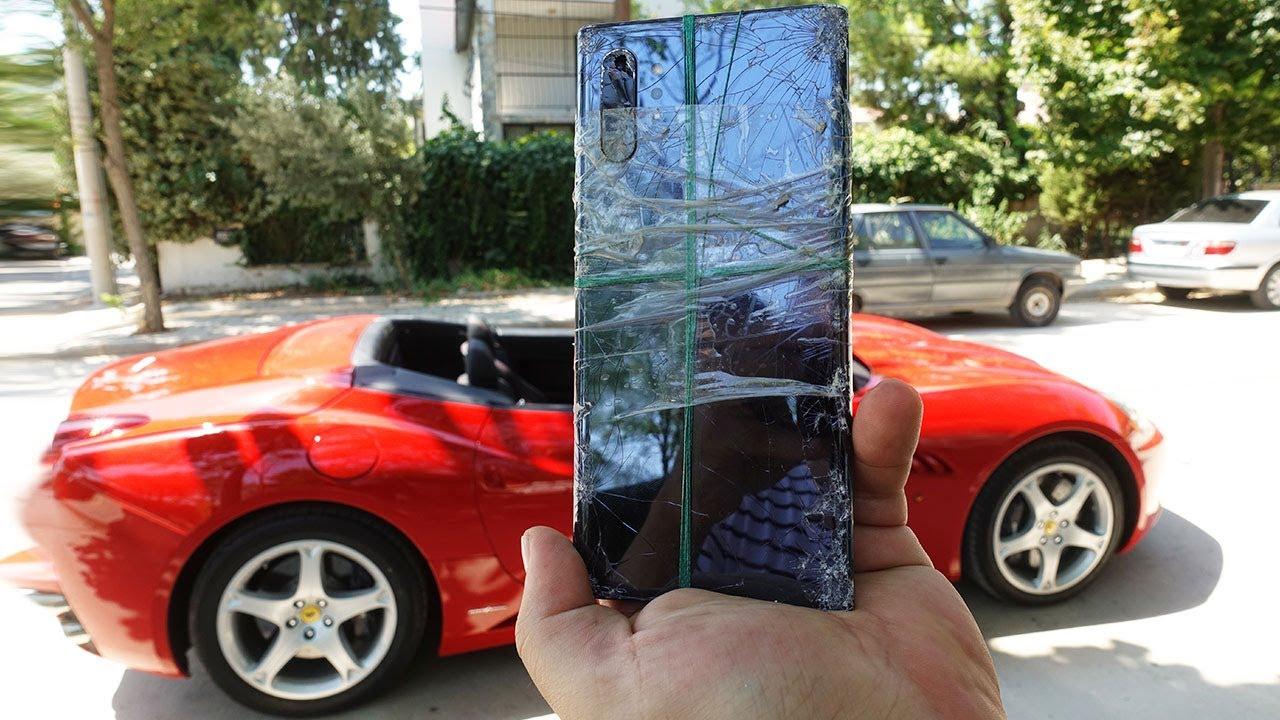 Galaxy Note 10+'ı Ferrari'nin Arkasına Bağlayıp Gezdirdik!(1.5 Milyon TL Değerinde Sağlaml