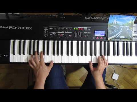 Autobahn - Kraftwerk - cover on keyboards