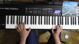 Autobahn - Kraftwerk - cover on keyboards