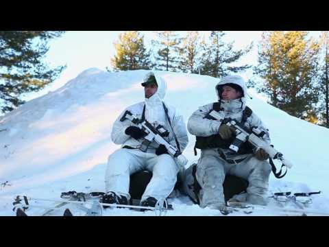 U.S Marines participate in Swedish Basic Winter Warfare Course