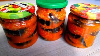 Очень вкусные БАКЛАЖАНЫ ПО ГРУЗИНСКИ НА ЗИМУ самая вкусная заготовка готовим дома