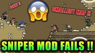 Mini Militia SNIPER MOD on SMALL MAPS ! FAILS and WTF Epic Moments| Doodle Army 2: Mini Militia #128