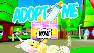 IM A BABY IN ROBLOX AND GET ADOPTED Adopt Me Roleplay