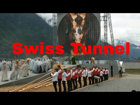 Occult Satanic Ritual Swiss Tunnel Opening Ceremony (DISTURBING!!) Part 2