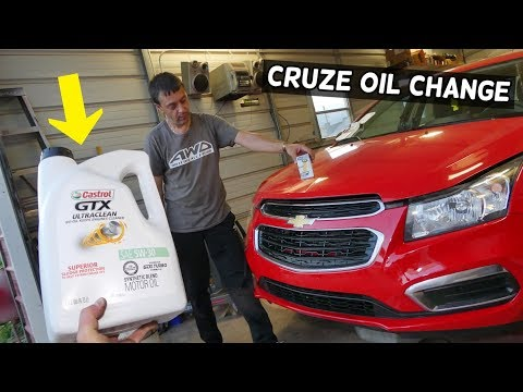 HOW TO CHANGE ENGINE OIL ON CHEVROLET CRUZE, CHEVY CRUZE SONIC