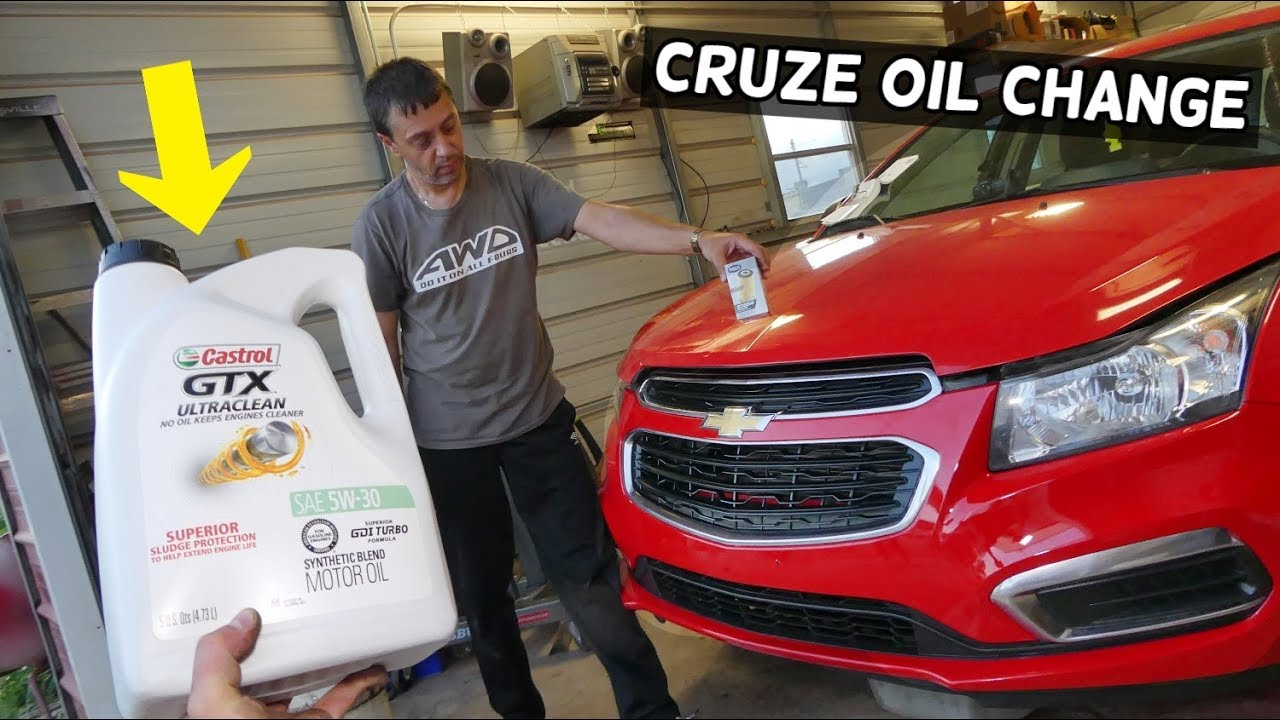 How To Change Engine Oil On Chevrolet Cruze Chevy Cruze Sonic Youtube