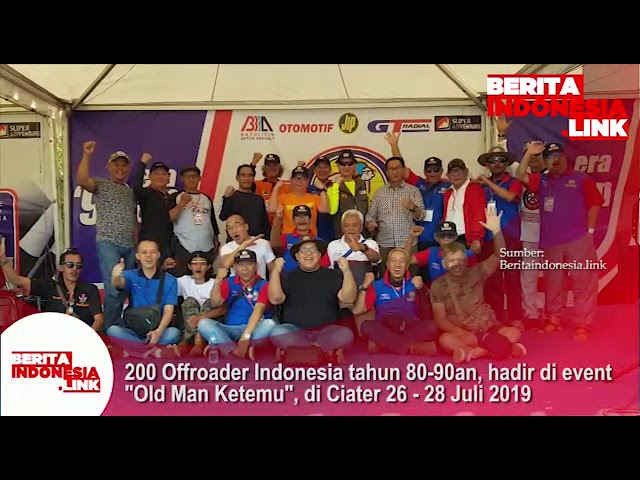 200 lebih Offroader Indonesia tahun 80-90an hadir di Old Man Ketemu, di Ciater 26-28 Juli 2019