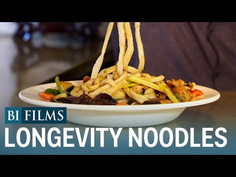 These are 'longevity noodles' — a delicious Chinese dish that's eaten for good luck