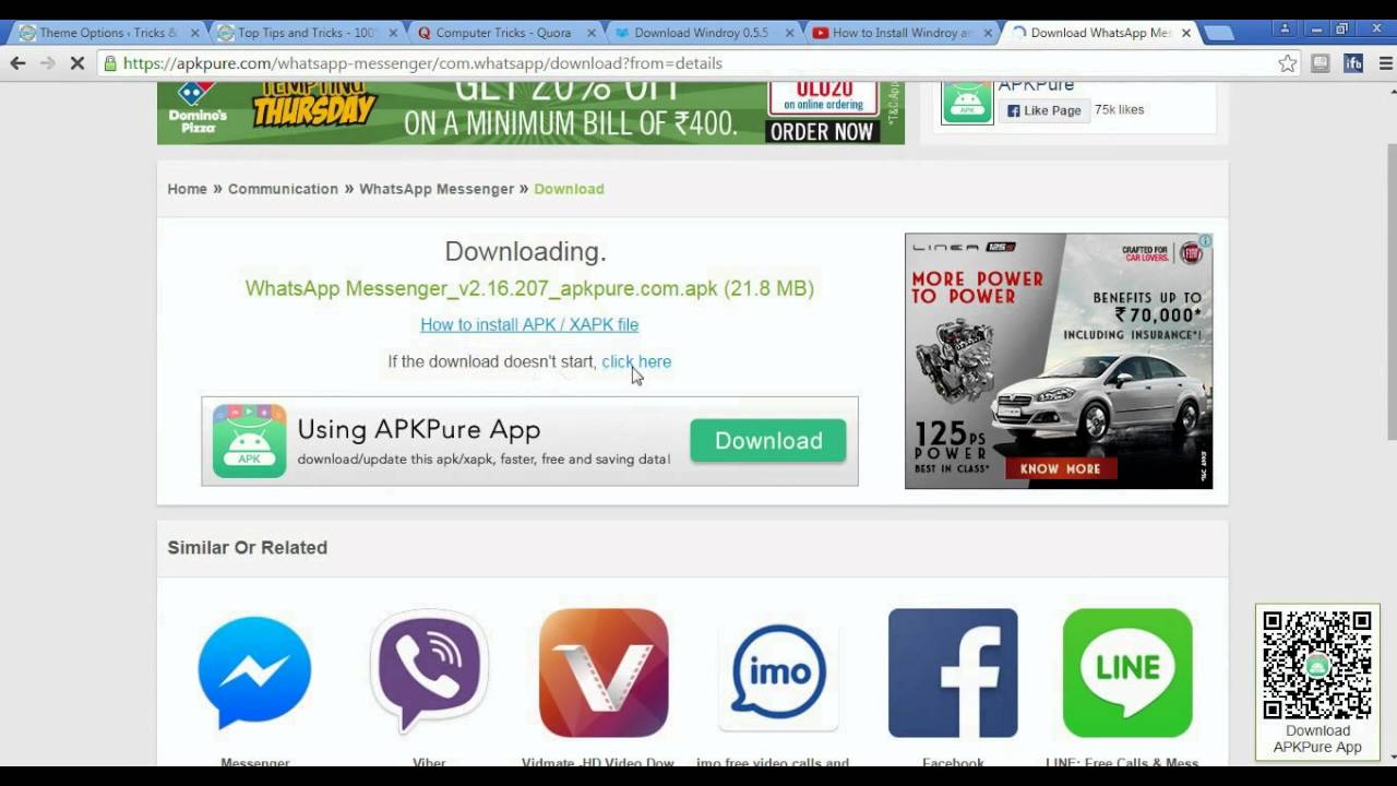 Whatsapp apk for pc