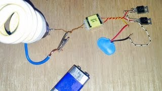 Repeat youtube video run a 220 Volt light bulb on a 9 Volt battery - win or fail?