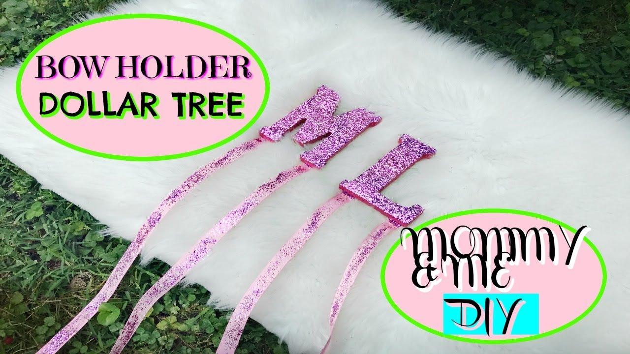 Mommy & Me DIY DOLLAR TREE Hair Bow Holder - YouTube