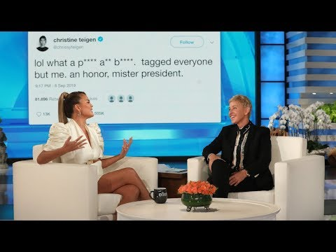 DJ Amili - Chrissy Teigen On Ellen Show Talking Presidents Tweets