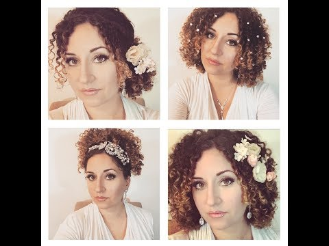 5 EASY bridal/formal naturally curly hairstyles