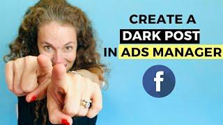 Karanlık bir Mesaj oluşturmak için nasıl Facebook reklam kampanyası için Facebook