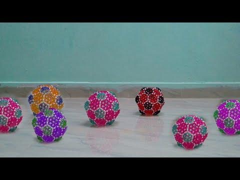 DIY Soccer Ball (FootBall)    How To Make Beaded Ball Easy   Beads Craft Ideas
