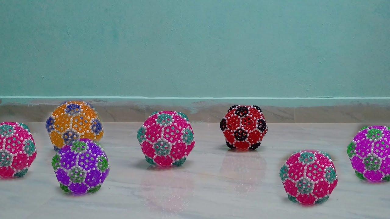 Diy Beaded Ball Tutorial How To Make Beaded Ball Easy Beads