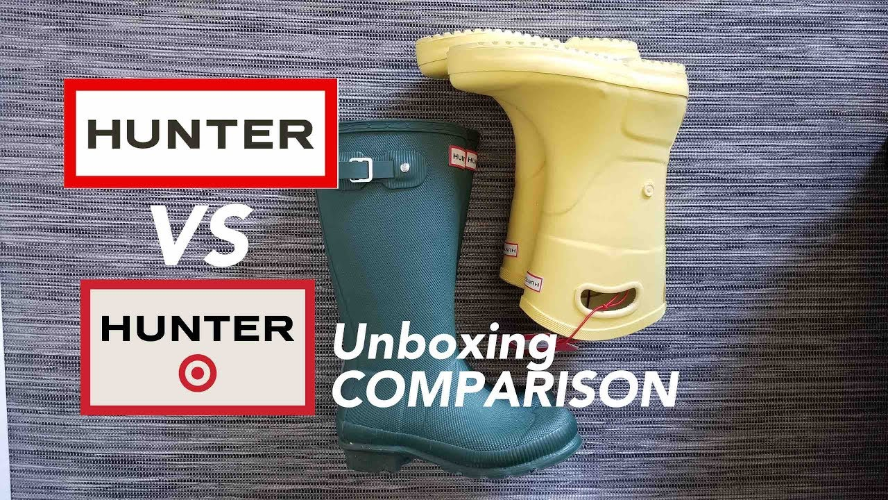0d5731f9177 Hunter VS Target Hunter Tall Rainboots COMPARISON unboxing full review