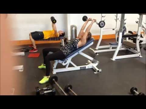 Incline Bench Lying EZ Bar Tricep Extensions
