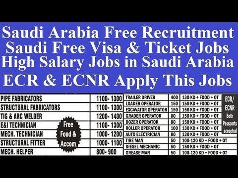 Saudi Arabia Free Recruitment Jobs l Free Recruitment Jobs in Saudi Arabia l Saudi Free Visa