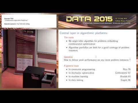 """Collaborative Algorithm Platforms"" Prof. Michele Sebag (DATA 2015)"