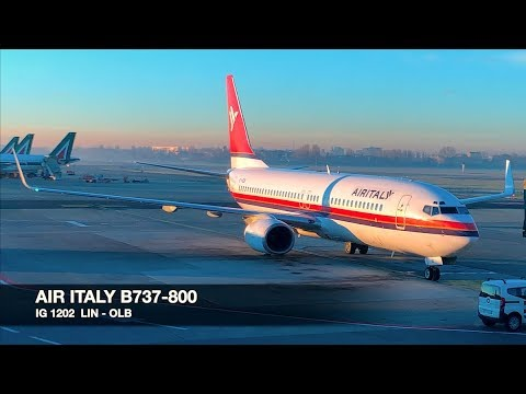 TRIP REPORT | AIR ITALY B737-800 | Milan LIN ✈ Olbia