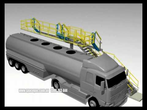 Spacepac Industries:Truck Or Rail Car Safety Enclosure - Wide Cage Access System