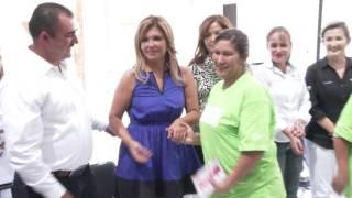 Gobernadora entrega en Huásabas apoyos y obras